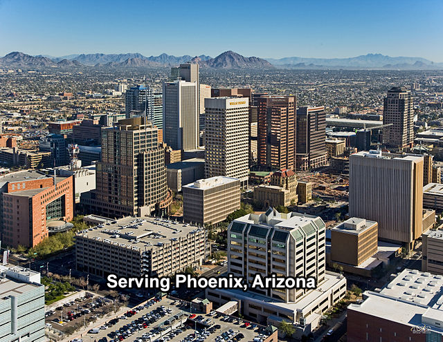 Metro Phoenix, Arizona, including Mesa, Chandler, Glendale, Scottsdale, Gilbert, Tempe, Peoria, Surprise, Avondale, Goodyear, and other cities